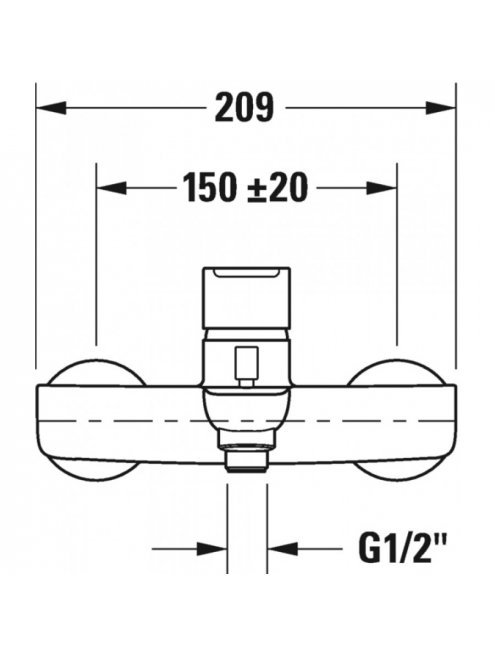Смеситель Duravit B.1 B15230000010 для ванны с душем
