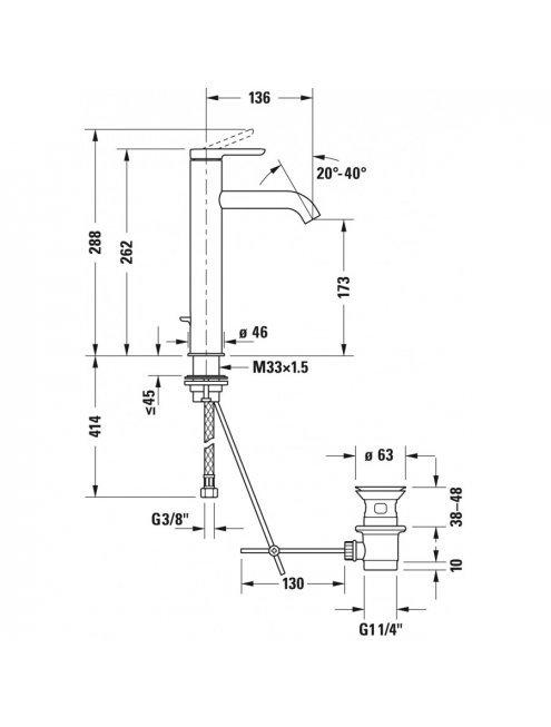 Смеситель Duravit C.1 C11030001010 для раковины