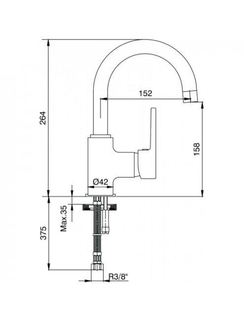 Смеситель E.C.A. Mix D 102108765 для раковины