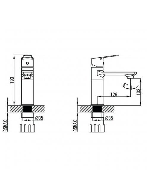 Смеситель Elghansa Wellesley 16U4844 для раковины