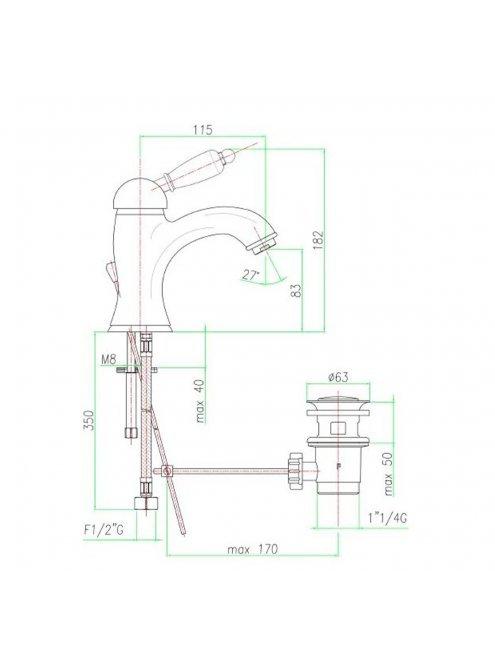 Смеситель Fiore Imperial 83ZZ5221 для раковины