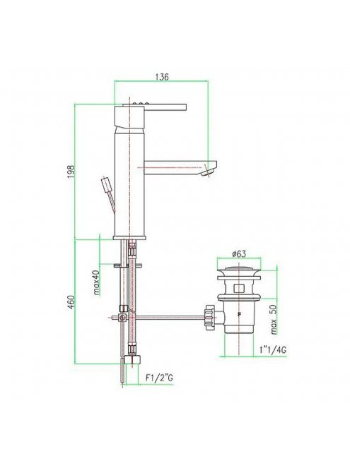Смеситель Fiore XS Sky 85CR7701 для раковины