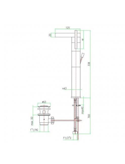 Смеситель Fiore XS Sky 85CR7718 для раковины