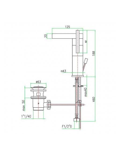 Смеситель Fiore XS Sky 85CR7719 для раковины