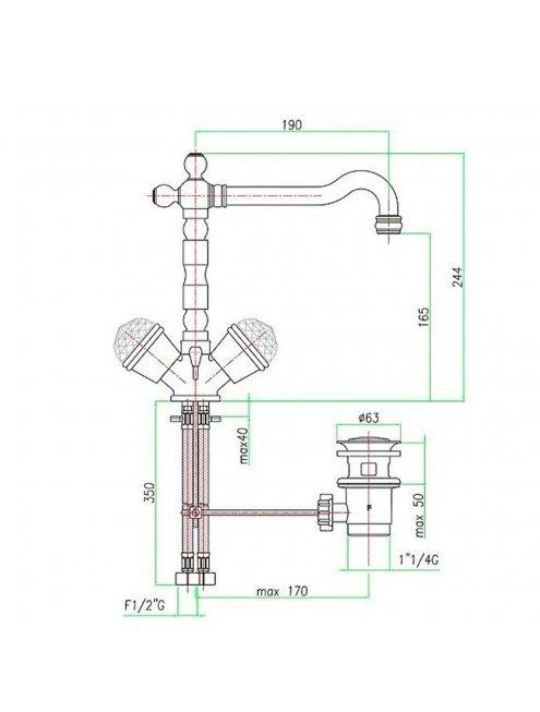 Смеситель Fiore XT Sky 17CR0625 для раковины