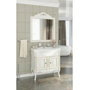 Комплект мебели Francesca Леонардо 85 белый, патина золото