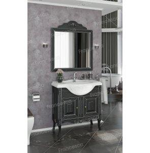 Комплект мебели Francesca Леонардо 85 черный, патина серебро