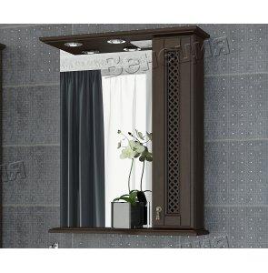 Зеркало-шкаф Венеция Виола 65 фасад решетка