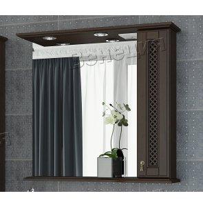 Зеркало-шкаф Венеция Виола 85 фасад решетка