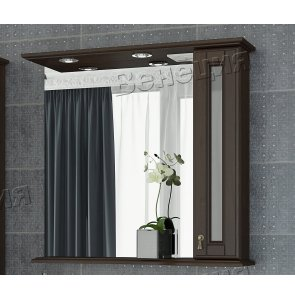 Зеркало-шкаф Венеция Виола 85 фасад стекло