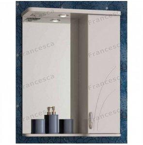Шкаф-зеркало Francesca Атланта 55 С белый