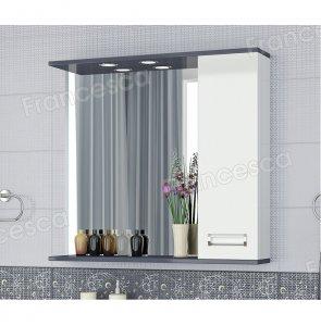Зеркало-шкаф Francesca Loft 80