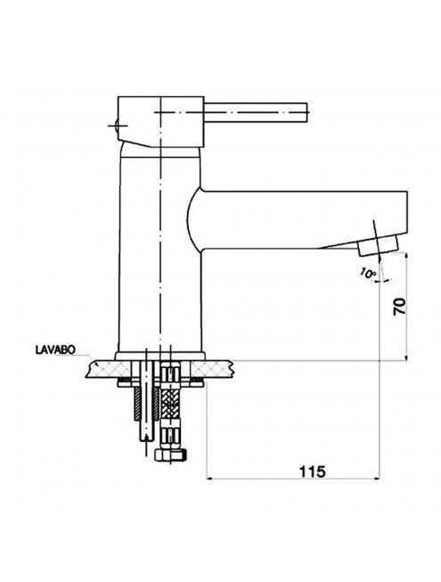 Смеситель GPD Espina MLB70 для раковины