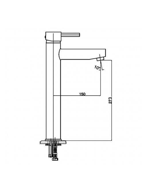 Смеситель GPD Espina MSL70 для раковины