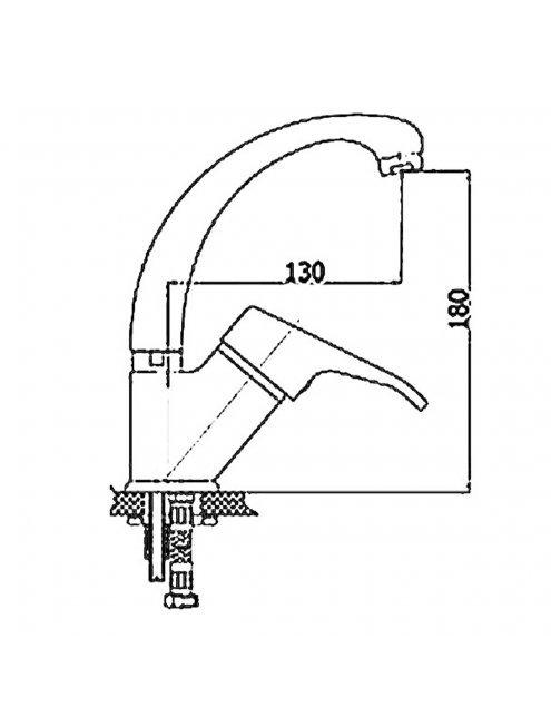 Смеситель GPD Kalipso MTL20 для раковины