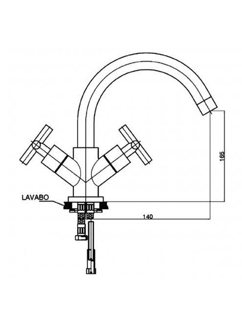Смеситель GPD Nino DLB05 для раковины