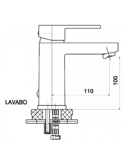 Смеситель GPD Nova MLB35 для раковины