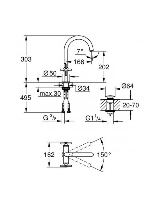 Смеситель Grohe Atrio New 21019DC3  для раковины