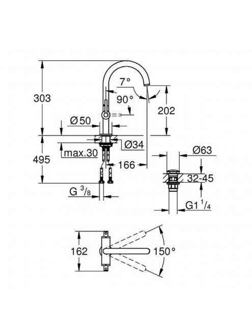Смеситель Grohe Atrio New 21022003  для раковины