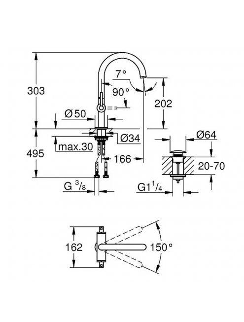 Смеситель Grohe Atrio New 21022AL3  для раковины