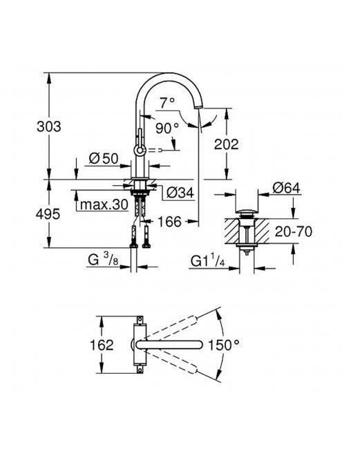 Смеситель Grohe Atrio New 21022DC3  для раковины