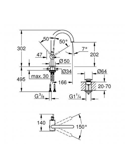 Смеситель Grohe Atrio New 32042DC3 для раковины
