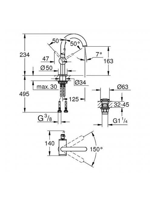 Смеситель Grohe Atrio New 32043003 для раковины