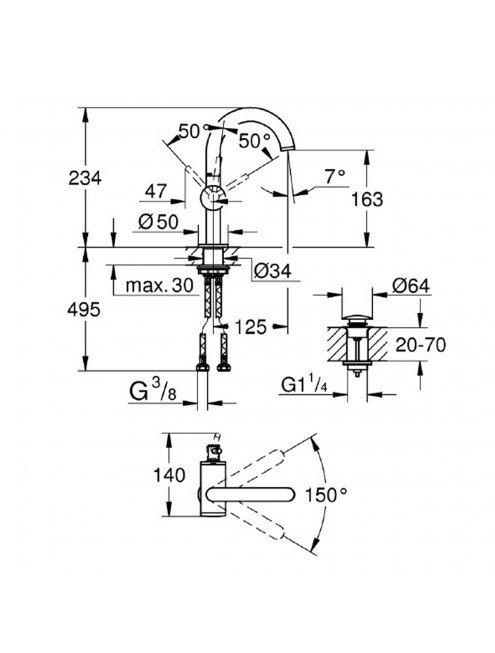 Смеситель Grohe Atrio New 32043AL3 для раковины