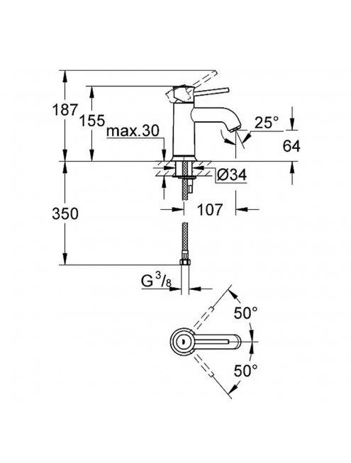 Смеситель Grohe BauClassic 23162000 для раковины
