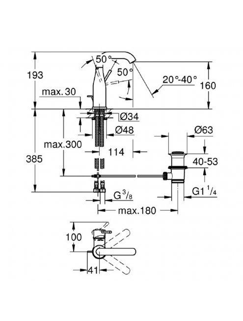 Смеситель Grohe Essence New 23462BE1 для раковины