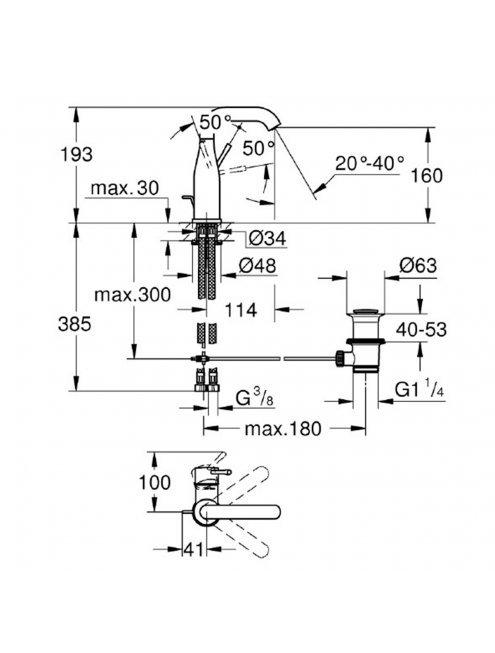 Смеситель Grohe Essence New 23462DC1 для раковины
