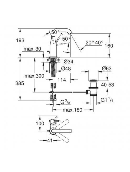 Смеситель Grohe Essence New 23462DL1 для раковины