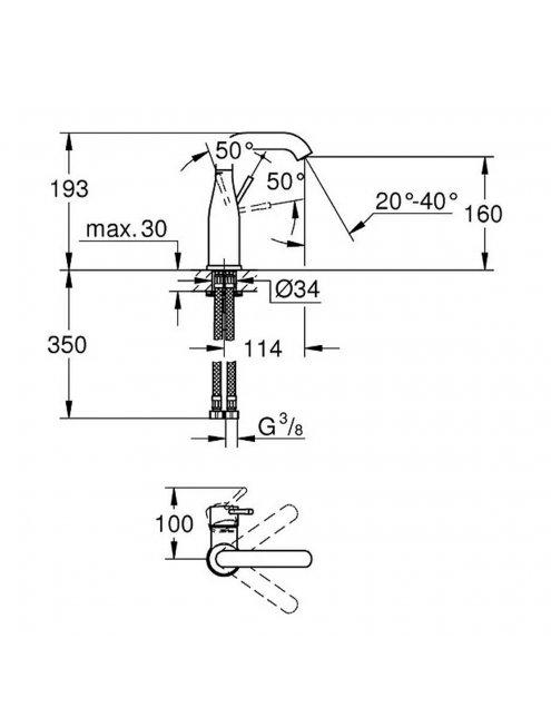 Смеситель Grohe Essence New 23463001 для раковины