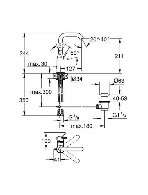 Смеситель Grohe Essence New 32628001 для раковины