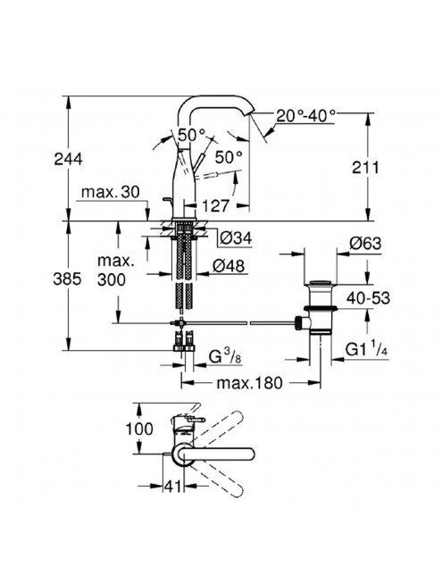 Смеситель Grohe Essence New 32628A01 для раковины