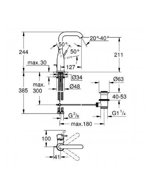 Смеситель Grohe Essence New 32628BE1 для раковины