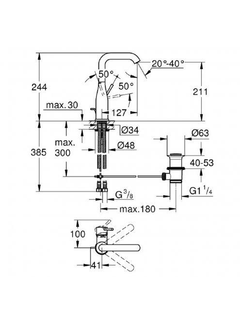 Смеситель Grohe Essence New 32628DA1 для раковины