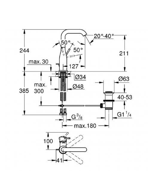 Смеситель Grohe Essence New 32628DL1 для раковины