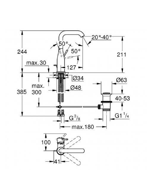 Смеситель Grohe Essence New 32628GL1 для раковины
