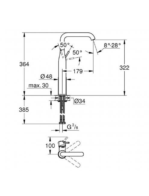 Смеситель Grohe Essence New 32901A01 для раковины