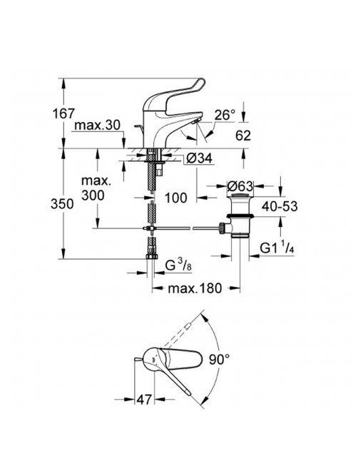 Смеситель Grohe Euroeco Special 32788000 для раковины