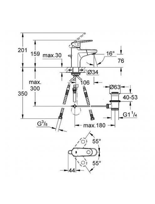 Смеситель Grohe Europlus II 33155002 для раковины