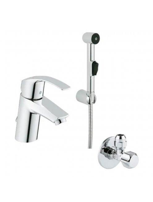 Смеситель Grohe Eurosmart New 23124002 для раковины с гигиеническим душем