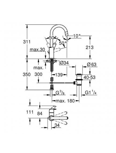 Смеситель Grohe Eurosmart New 23537002 для раковины