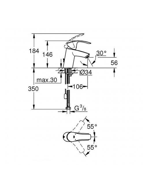 Смеситель Grohe Eurosmart New 33188002 для раковины