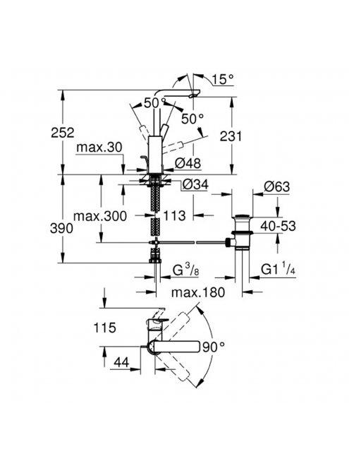 Смеситель Grohe Lineare New 23296001 для раковины