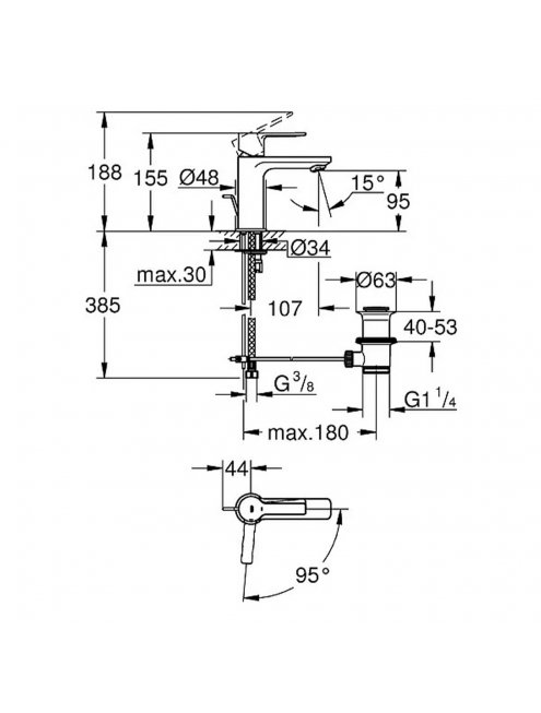 Смеситель Grohe Lineare New 23790001 для раковины