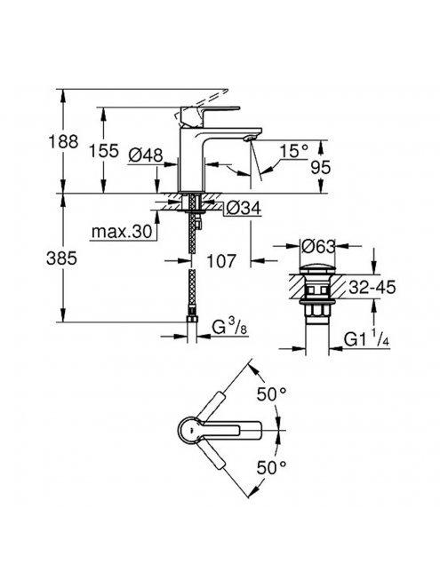 Смеситель Grohe Lineare New 23791001 для раковины