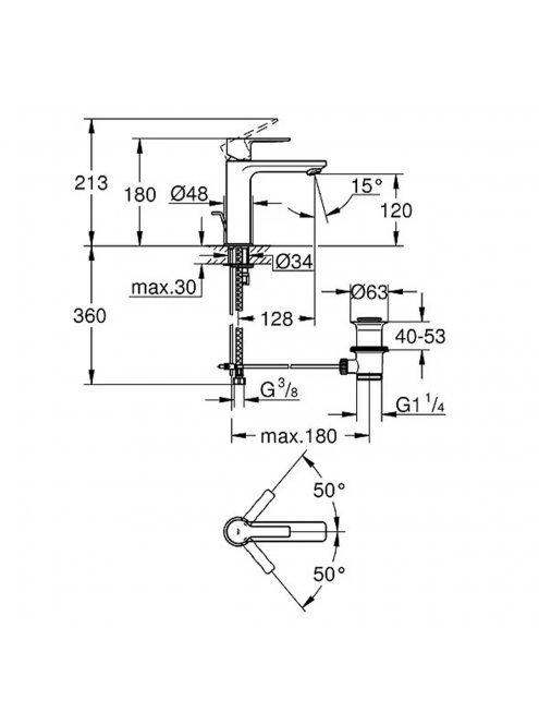 Смеситель Grohe Lineare New 32114001 для раковины