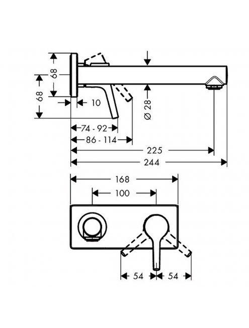 Смеситель Hansgrohe Talis S 72111000 для раковины